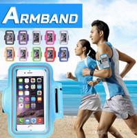 achat en gros de galaxie bande de sport de note-Sport Gym Running Armband Protector Ceinture Soft Running Bag Arm Band Case Pour iPhone 7 Plus 6 6S 5 5S Samsung Galaxy S7 bord S6 Note 5 50pcs