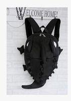 2016 nueva personalidad tiburón monstruo hombro bolso camaleón de gran capacidad de viaje monstruo animal pack estudiante mochila