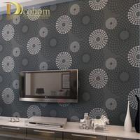 Wholesale Modern minimalist Non woven Wallpaper Black and White Circles home decor background wallcovering d papel de parede R455