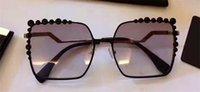 achat en gros de cadre de définition-Nouveaux lunettes de marque de mode FD 0149 cadre carré incrusté perle conique modèles spéciaux de conception modèles de mode de haute définition lentilles