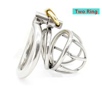 Wholesale Curved Stainless Chastity Belt - NEW Stainless Steel Super Small Male Chastity device Adult Cock Cage With Curve Cock Ring BDSM Sex Toys Bondage Chastity belt CPA224
