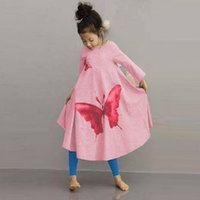 Wholesale 2017 Retail Baby Girl Clothes Casual A line kids dresses Full girl party dress Pretty Pattern girl dress children clothing
