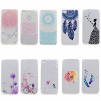 Wholesale Transparent TPU Cover For Xiaomi Mi5s Mi s Case Fashion colour decoration Tower bike Butterfly Girl Feather Design Phone Case