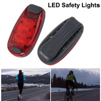 Wholesale Sport LED Safety Lights Clip on Strobe Running Cycling Dog Collar Lights Modes Bike Tail Lights Warning Light DHL Free OTH333