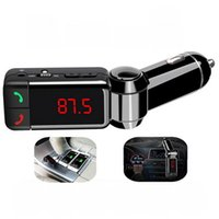 Wholesale Car Kit Bluetooth FM Transmitter Wareless MP3 Player Modulator Handsfree LCD with Dual USB Charger for iPhone Samsung Smartphone