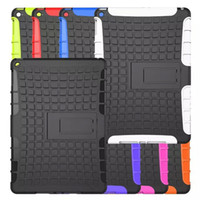 apple ipad in china - 2 In Grid Matte Heavy Duty Impact Hybrid Armor Kick stand Plastic Silicon Case For iPad Air Mini Pro