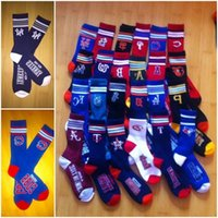 Wholesale 2017 new Baseball Sport Socks New York NY Yankees Chicago cubs Red sox Long Knee Athletic a freeshipping
