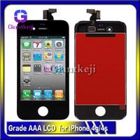 al por mayor iphone 4s pantalla de vidrio de reemplazo-AAA +++ Reemplazo de calidad Pantalla táctil LCD con pantalla de digitalizador Montaje de cristal para Apple iphone 4G 4S