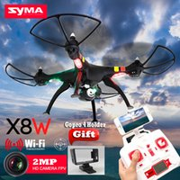 Drone Syma X8W WiFi Real Time Video et syma x8c 2.4G 4ch 6 Axis Venture avec caméra 2MP Big RC Quadcopter FPV