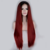 Cheap Straight Hot Selling Heat Resistant Ombre Best 18 Under $100 Synthetic Lace Front Wigs With Baby Hair