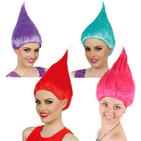 Wholesale Trolls Wig For Kids cm Flame Wig Children Cosplay Party Supplies Halloween Wig Colors Birthday Party Wigs WA2209