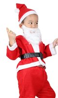Wholesale Santa Claus Costume Child Adult Woman Christmas Performance Costume Dress Up Parent child Costume Clothing Male