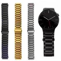 Bracelet en acier inoxydable pour bracelet AppleWatch 38 42mm Samsung Gear S2 S3 Montre avec adaptateur 3 points connectés 2 couleurs Drop Shipping