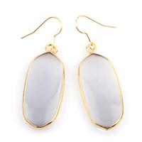 Wholesale Kendra Scott Long Earrings Drop K Gold Plated Natural Stone Earrings Charms Geometric Earrings Fashion Jewelry For Women