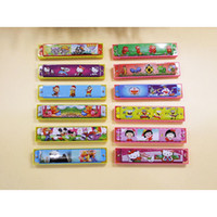 Wholesale Children Instruments Harmonica Resin Made Holes Kids Musical Instrument Educational Musical Toy Enlightenment EU N71 Color Assorted