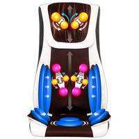 Wholesale 220V Vibrating electric body massager machine multifunction heating shoulder back massage cushion chair relax muscle therapy massage