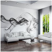 Wholesale Custom D photo wallpaper Smoke clouds abstract artistic wall paper modern minimalist bedroom sofa TV wall mural paper painting