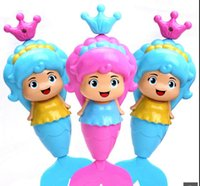 Wholesale On the chain of toys pull the line Mermaid baby baby shower bath toys play water children spring toys