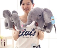 Package pillow Package pillow Unisex 35cm 45cm cute cartoon simulation elephant plush doll, elephant stuffed animal toy, baby toy, doll for children