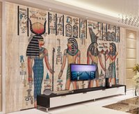 Wholesale murals d wallpapers home decor Photo background wallpaper Ancient Egyptian civilization Mayan elders hotel large wall art mural