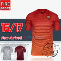 2016 TOTTI Camisetas de fútbol 16/17 Uniformes Serie A Tailandia Casa de calidad Rojo Ausente Blanco De Rossi Dzeko El Shaarawy fútbol Camisetas