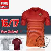 Soccer Men Short 2016 TOTTI Soccer Jerseys 16 17 Uniforms Serie A Thailand Quality Home Red Away White Third De Rossi Dzeko El Shaarawy football Shirts