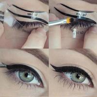 beauty models - 2 Styles Beauty Cat Eyeliner Models Smokey Eye Stencil Template Shaper Eyeliner Makeup Tool