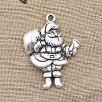 antique santa claus - Cents Charms Christmas Santa Claus gift mm Antique Making pendant fit Vintage Tibetan Silver DIY bracelet necklace