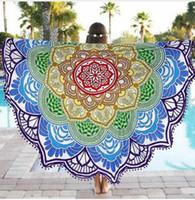 Wholesale Round beach towel Table cloth cm Chiffon beach towel adults Bath Towel jacquard tablecloth Mandala Serviette De Plage PC