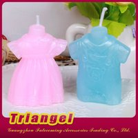 Wholesale Top Quality Wedding Favor Lovely Clothing Candles For Wedding Birthday Christmas Party Decoration