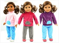 Wholesale 3styles choose lovely SUIT amp leisure clothes fit inch American girl doll doll accessories only sell clothes