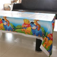 Wholesale NEW cm Cute Disposable Winnie and pooh Cartoon Kids Birthday Decoration Table Cover Children Party Tablecloth Supplies