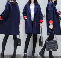 Wholesale New arrival Autumn and winter women s hot sale fashion casual Korean slim models trench coat Long style