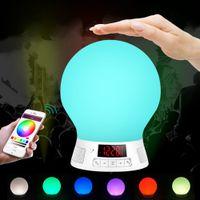 apple nano radio - MultiColor Smart LED Blub Light Portable Wireless Bluetooth Speaker LED Light for IOS iPad with mic FM Radio BL10