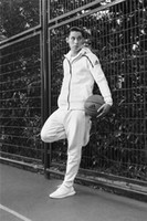 ad sets - 2017 NEW AD Tracksuit sweatshirts sweat suit for mens hoodies brand clothing jackets sportswear sets colors