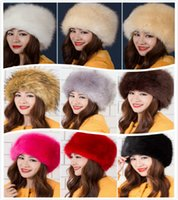 Wholesale Hats Lady Fur Hat Warm Caps Winter Woolen Fur Thicken For Winter Fashion Trapper Hats Fox Hair Hot Selling