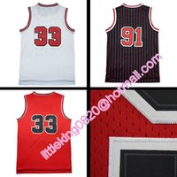 Wholesale New retro Scottie Pippen Jersey Mesh Stitched dennis rodman Jersey embroidery Michael shirt high quality