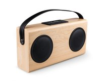 Wholesale AVWOO Big Promotion Wooden bluetooth speaker with FM Radio USB Charging Line in display power bank built in rechargeable battery