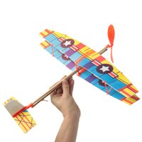 airplane assembly kit - Funny Educational DIY Handmade Assembly Airplane Aircraft Launched Powered By Rubber Kids Model Building Kits