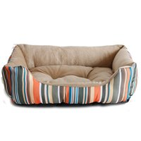 Wholesale High Quality Rainbow Stylish Soft Warm Dog Bed House Pet Puppy Cat Nest Pet Mat Pad cm M Size