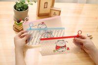 Wholesale creative potato rabbit design file folder PVC Seal Bag documents file bag stationery filing holder Korean cute cartoon pen bags