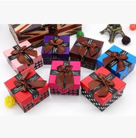 Wholesale Multicolor Jewelry Boxs Bow Boxs Mini Packaging Gift Boxs Fashion Dispaly Boxs