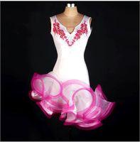 ballroom dance clothes for women - Latin Dance Dress Women Girls For Salecha Cha Rumba Samba Ballroom Dancing Dancewear Fitness Clothes Lady Kids Dance Costume FN102