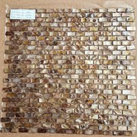 Wholesale Dyed Antique Bronze MOP Brick Shell Tiles Mother of Pearl Shell Mosaic Backsplash