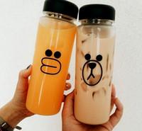 Wholesale New Fashion South Korea s new promise me my bottle cup plastic cup lemon tea cup Water bottle custom logo