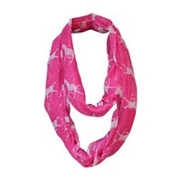 Ring Polyester Adult Wholesale-Hot Selling Running Horse Print Infinity Scarf Ladies Women Viscose Animal Snood Loop Circle Ring Scarves Cheap Free Shipping