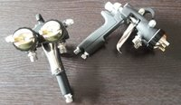 Wholesale Silvering mirror spraying gun quality guarantee double head spray gun for chrome and nano painting free DHL