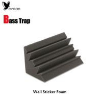 Sound-absorbing acoustic wall panels - EVAAN Wall Stickers Bass Trap Acoustic Panels Absorption Foam x12x12cm Music Treatment Sponge Studio Sound Wall Panel