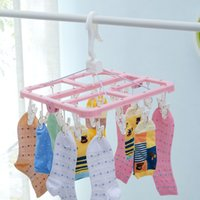 Wholesale square Multi clip Air is basked in hanger household underwear socks baby clothes hanger baby clothes g