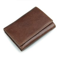 awesome card - Awesome Men Genuine Leather Retro Short Bifold Wallet Cowhide Coin Purse Card Holder Quality Money Clips Slim Vintage Design Purse Handsome